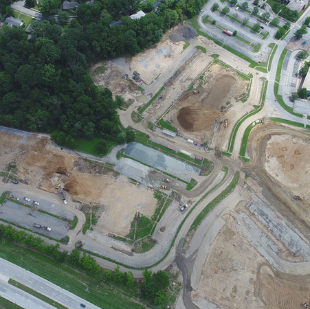 Aerial of Barley Mill - August 2020