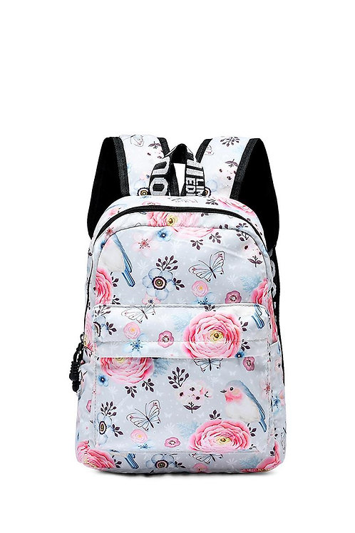 Pretty bird and floral small backpack