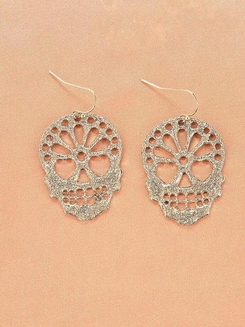 Sparkly sugar skull earrings