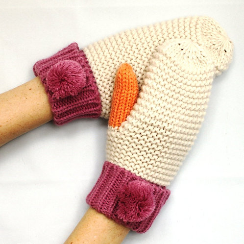 House of disaster cream mittens