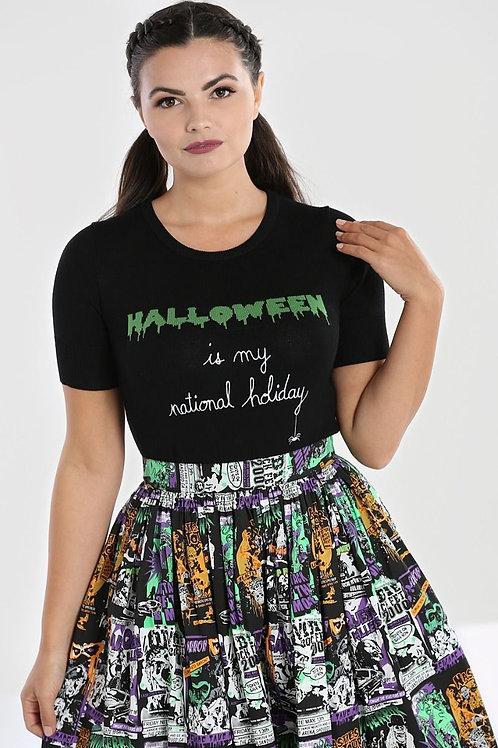Halloween forever' short sleeve  jumper