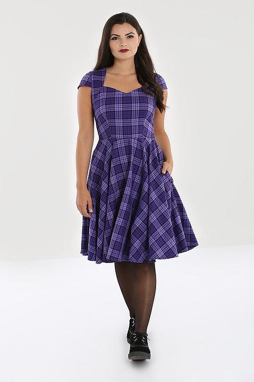 Purple check Hell bunny dress