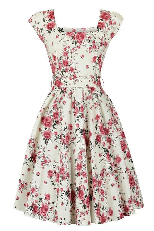 Delicate vintage floral' swing dress