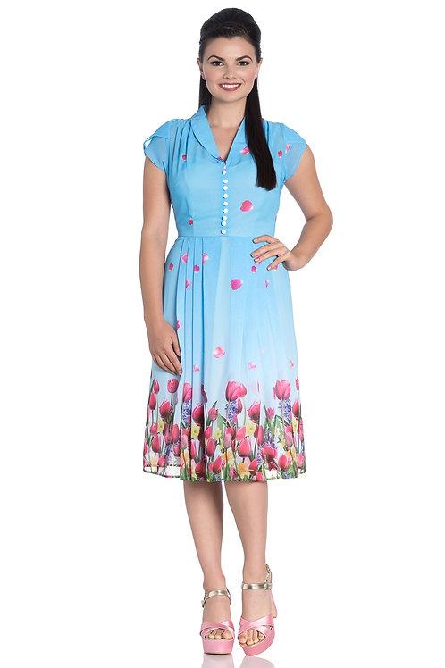 Tulips' chiffon dress