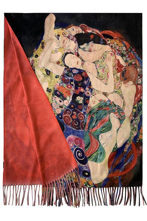 Klimt ' three ages of women'wool scarf