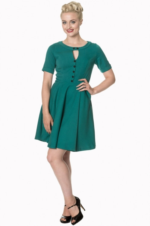 Don't be late' vintage style swing dress