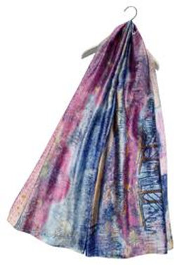 Art impressionist 100% silk scarf