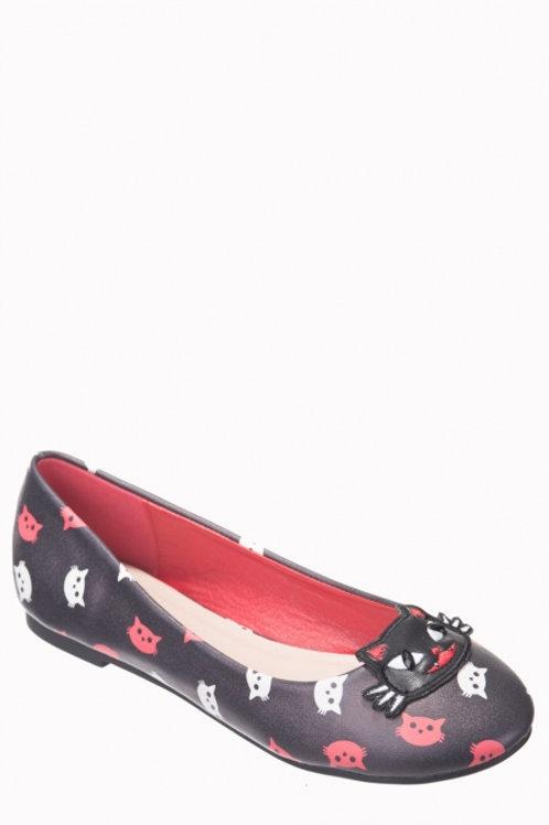 Cat ballerina shoes