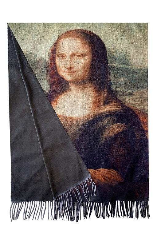 Leonardo da vinci 'mona Lisa wool scarf