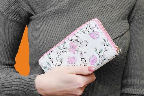 Birds & flowers purse