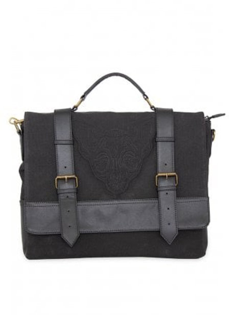 Banned apparel caligo sphynx cat  black messenger bag