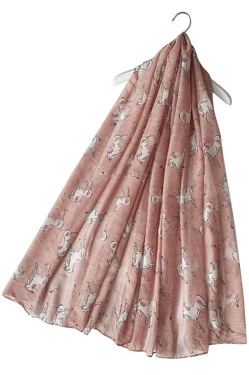 Unicorn print scarf