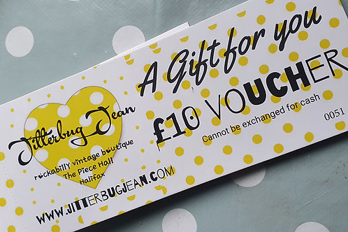 £10 gift voucher to spend in store