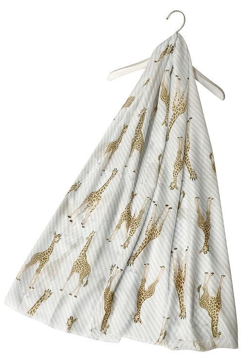 Giraffe print scarf