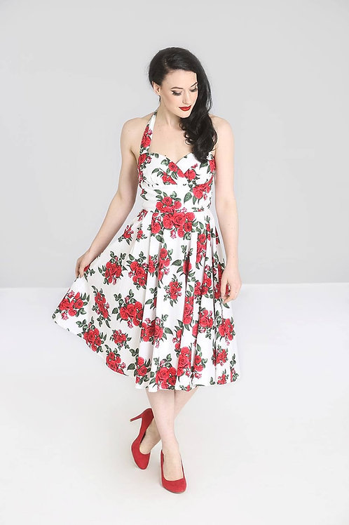 Red Rose 50's style dress