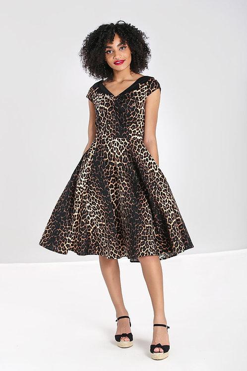 Panthera leopard print 50's dress