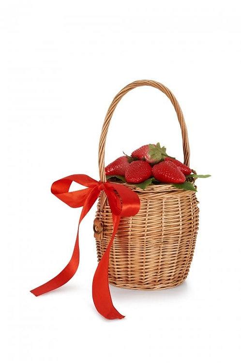Collectif strawberry basket bag