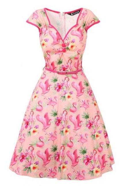 Lady V isabella' flamingo dress