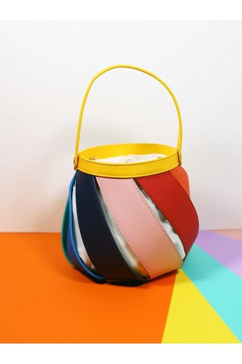 Collectif lulu hun rainbow swirl bag