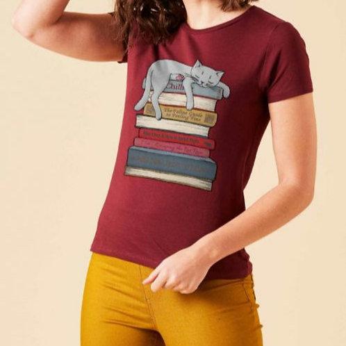 Nine lives' cat t-shirt