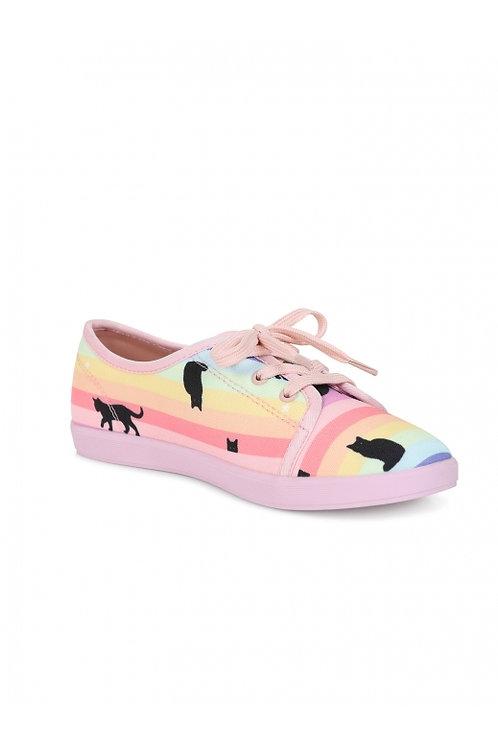 Lulu hun rainbow cat sneakers