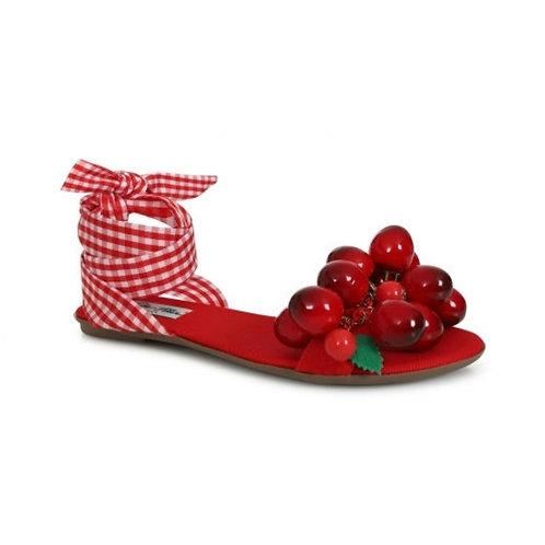 Collectif cherry flat sandals