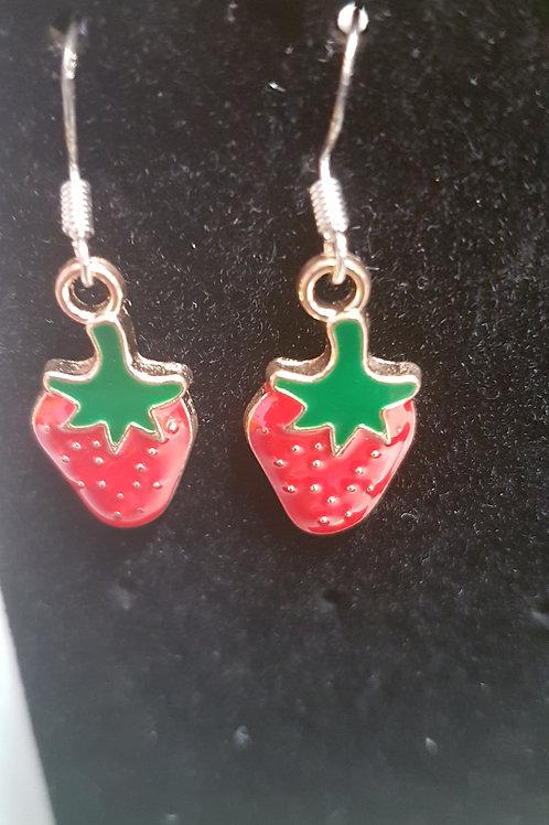 Jitterbug Jean strawberry earings
