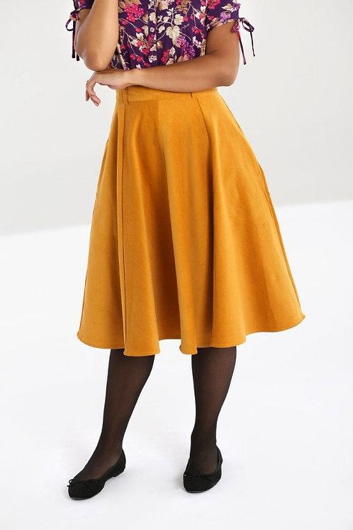 Jefferson mustard cord swing skirt