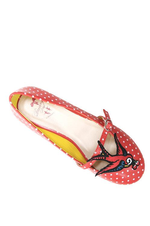 Swallow ballerina shoes