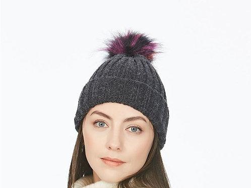 Multi pom pom beanie hat