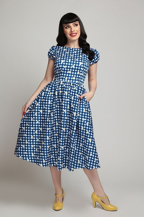 Collectif gingham daisy dress