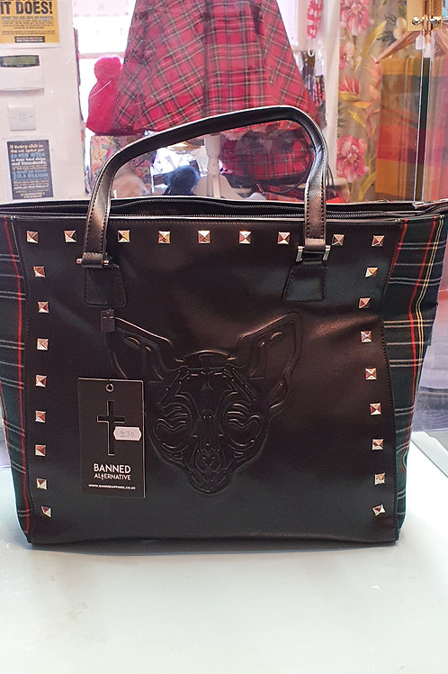 Banned apparel 'sphynx large tote bag