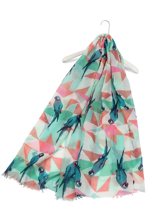Parrot print scarf