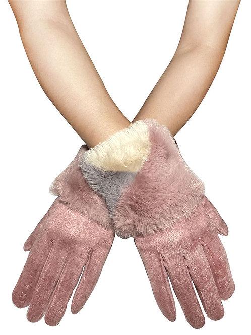 Colour block touchscreen gloves