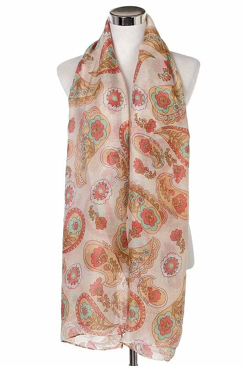 Paisley print soft scarf