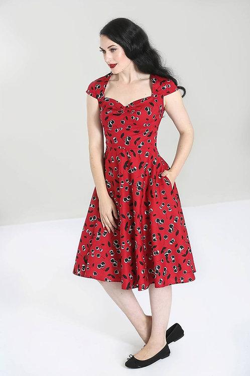 Black cherry 50's swing dress xs/8