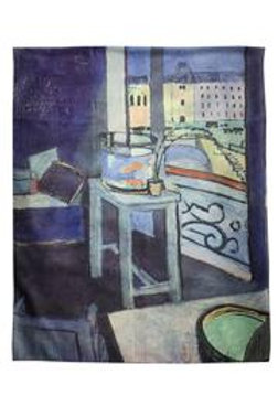 Henry Matisse' fauvism interior with goldfish silk scarf