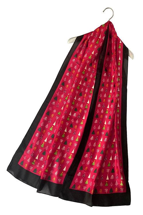Silk Christmas tree scarf