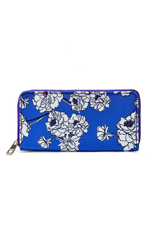 Peony print purse