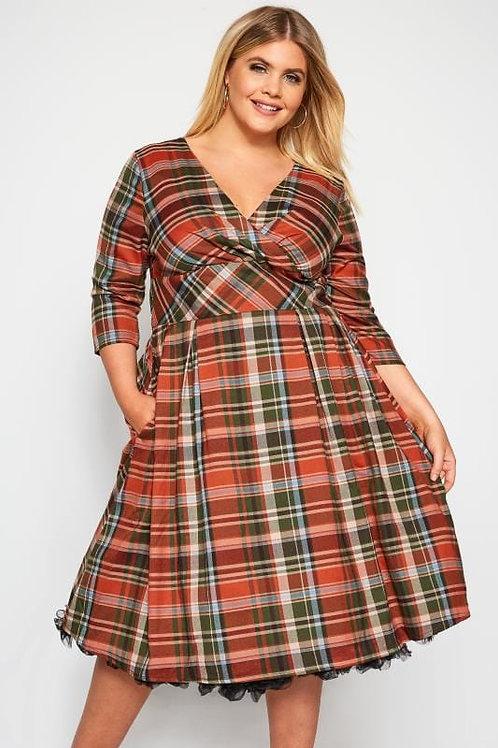 Oktober' + size tartan dress