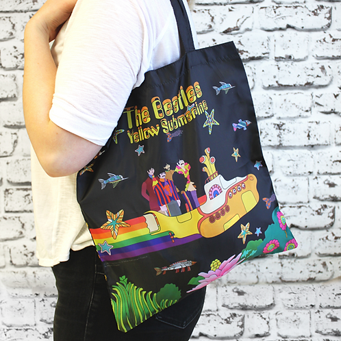 The Beatles foldaway shopper, made from recycled bottles