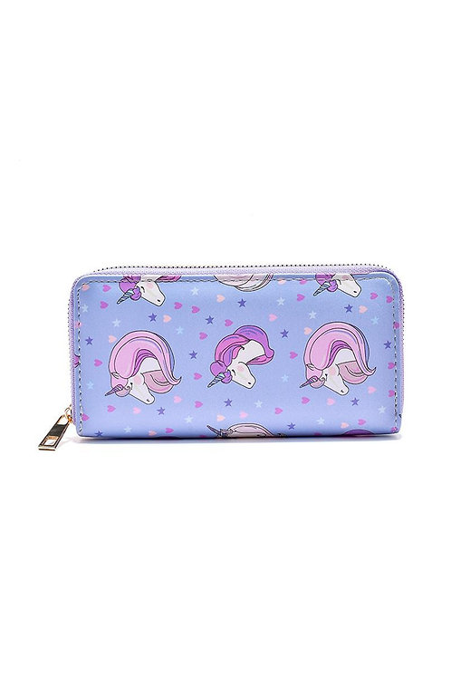 Unicorn print purse