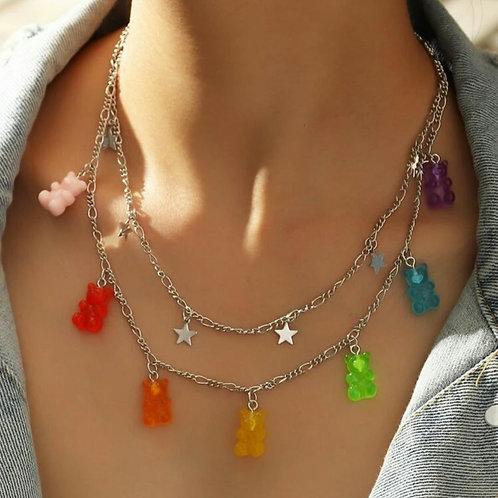 Jelly bear necklace
