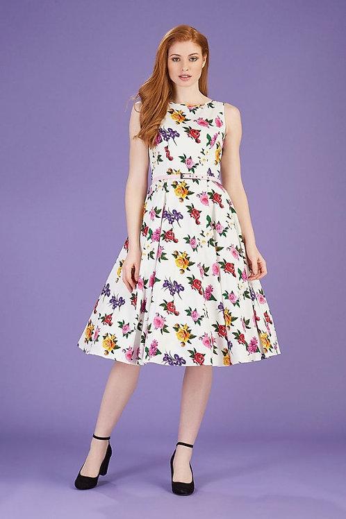 Gossamer rose' Heburn swing dress