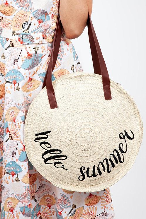 Collectif hello summer wicker bag