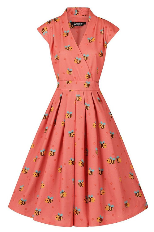 Busy bee' swing dress