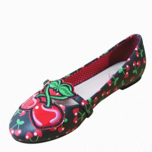 Cherry flat shoes