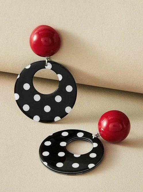 Vintage style polka dot earrings