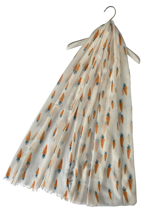 Cute carrot print scarf