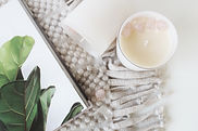 Rose Quartz Crystal Candle - Luxe Bath a